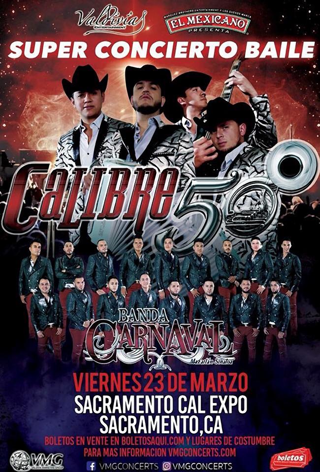 Super Conciero Baile con Calibre 50 y Banda Carnaval de Mazatlan Sinaloa – Cal Expo de Sacramento, CA