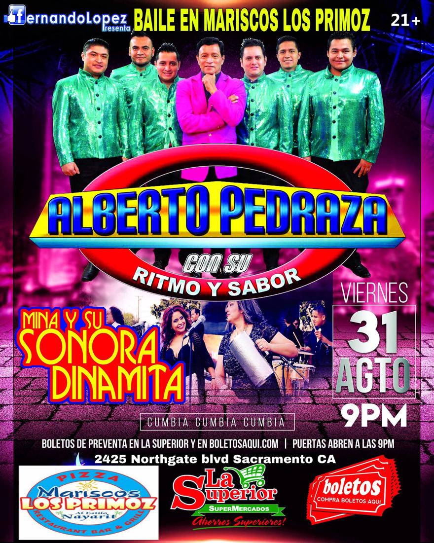 Noche de Cumbia con Alberto Pedraza y Mina y Su Sonora Dinamita – Mariscos Los Primoz – Sacramento, CA