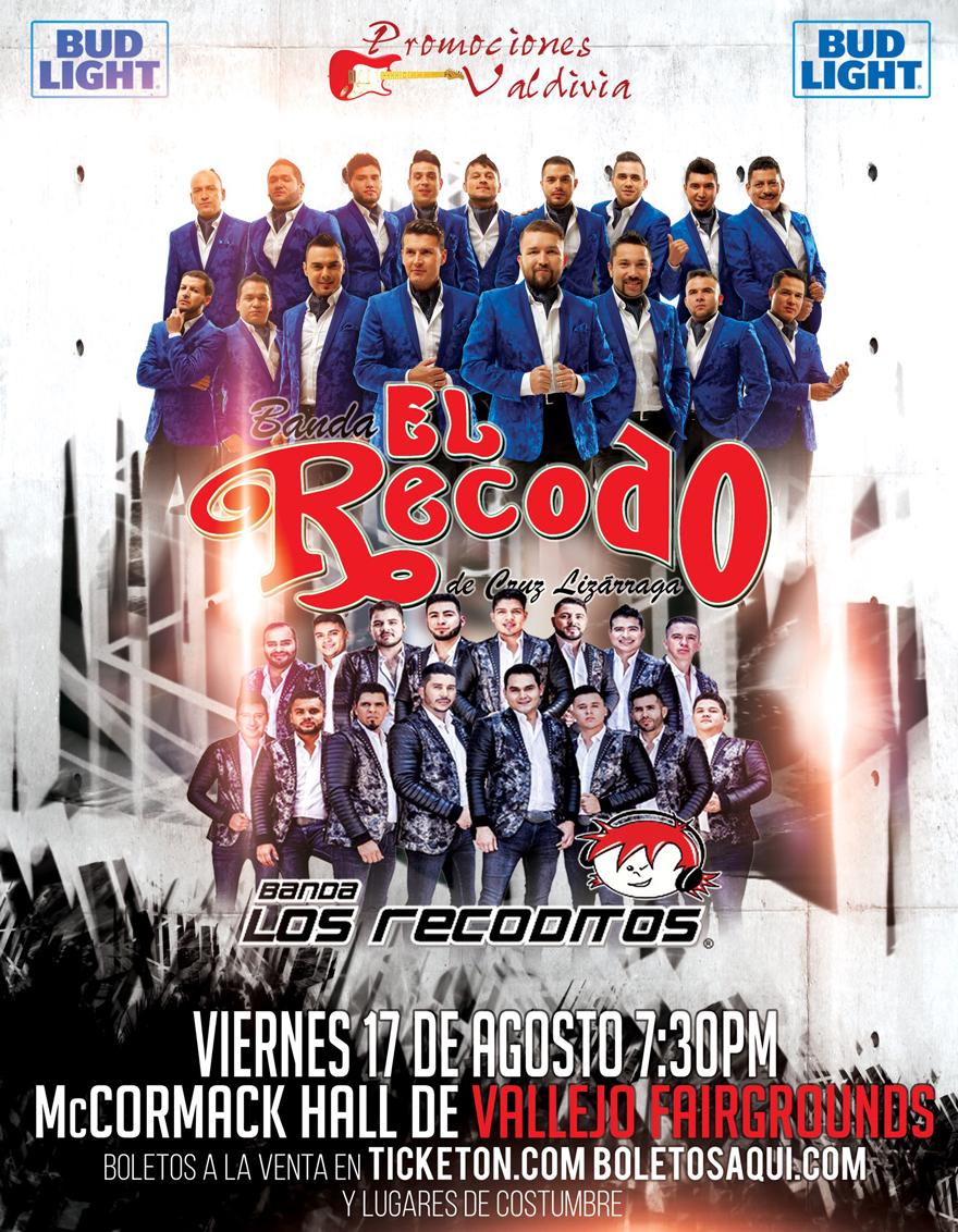 Banda el Recodo y Banda Recoditos – McCornmack Hall de Vallejo Fairgrounds
