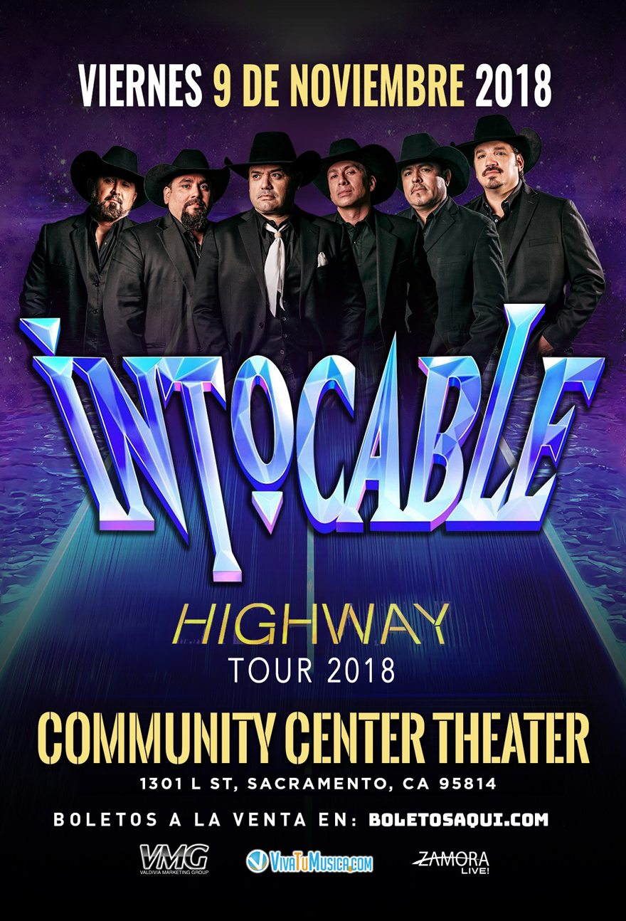 Intocable – Highway Tour 2018 – Community Center Theater – Sacramento, CA