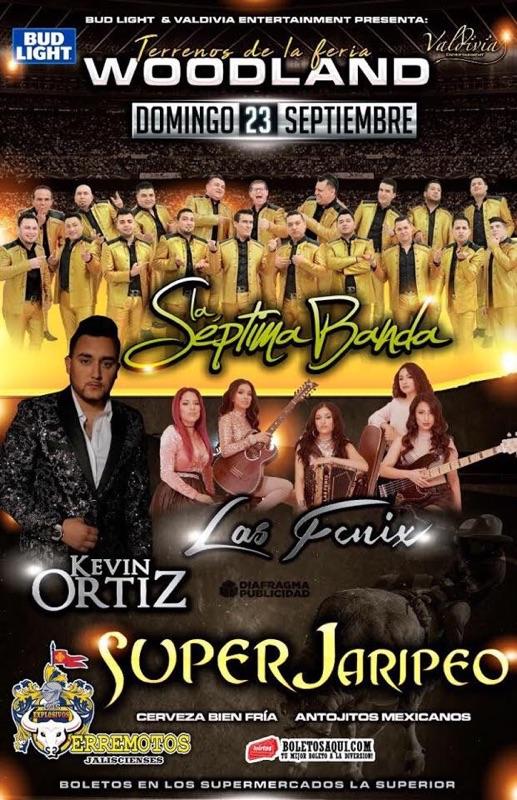 Super Jaripeo con La Septima Banda, Kevin Ortiz y Las Fenix – Terrenos de La Feria de Woodland, CA