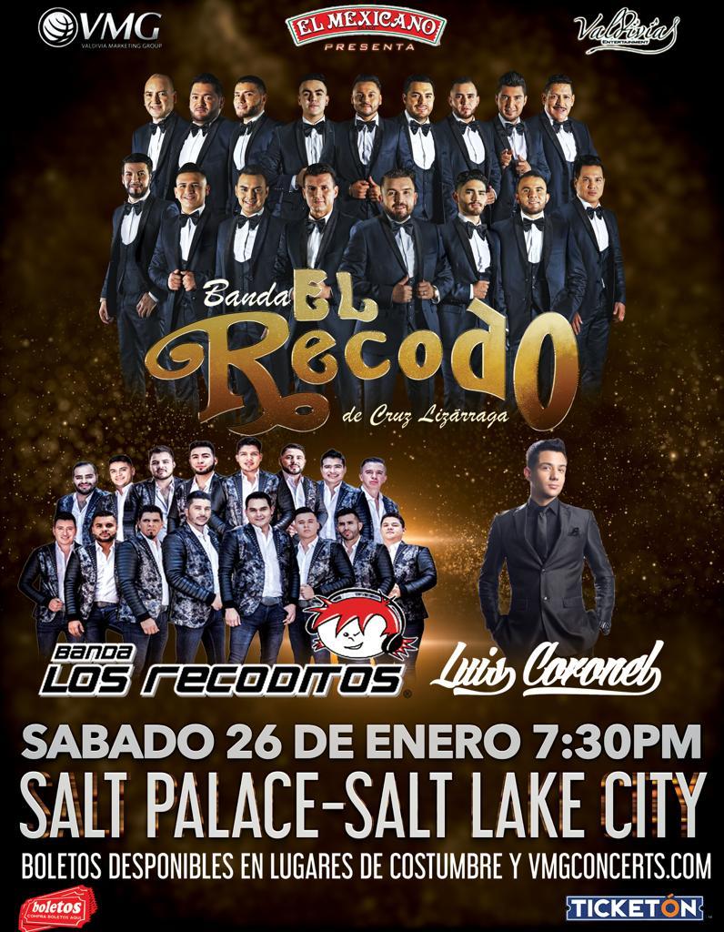 Banda el Recodo de Cruz Lizarraga, Banda Los Recoditos y Luis Coronel – Salt Palace – Salt Lake City, UT