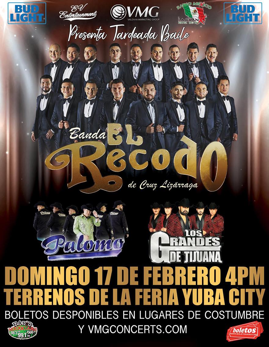 Banda el Recodo, Palomo y Los Grandes de Tijuana – Terrenos de la Feria de Yuba City, CA