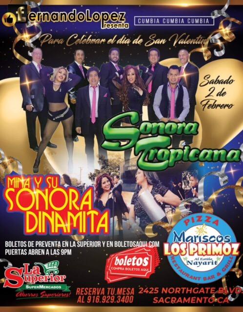 Sonora Tropicana y Mina y su Sonora Dinamita – Mariscos Primoz – Sacramento, CA