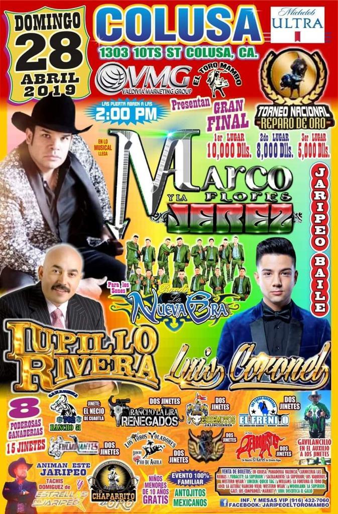 Jaripeo Baile con Marco Florez, Lupillo Rivera y mas