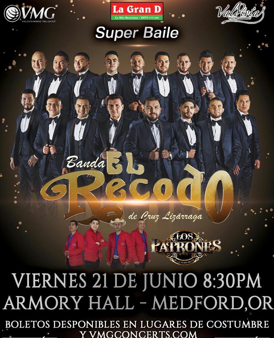 Banda El Recodo de Don Cruz Lizarraga y Los Patrones – Armory Hall de Medford, OR