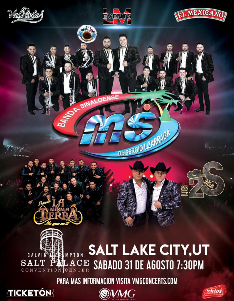 Banda MS, Banda La Misma Tierra y Los 2 de La S. – Salt Palace Convention Center – Salt Lake City, UT