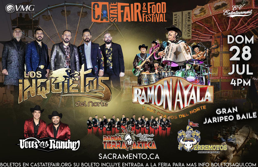 Gran Jaripeo Baile con Los Inquietos del Norte, Ramon Ayala, Voces del Rancho y Banda Tierra Azteca – CA State Fair – Sacramento, CA