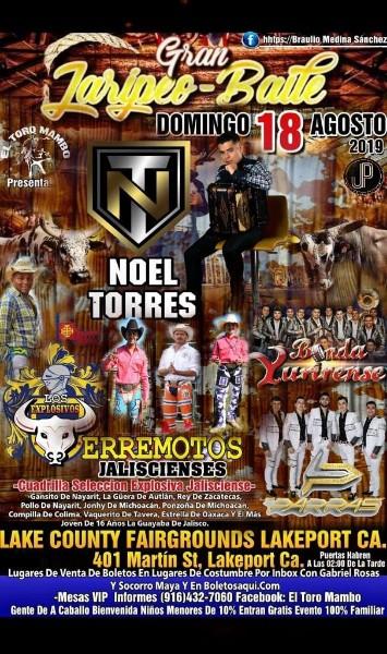 Jaripeo Baile con Noel Torres, Banda Yurirense y mas – Lake