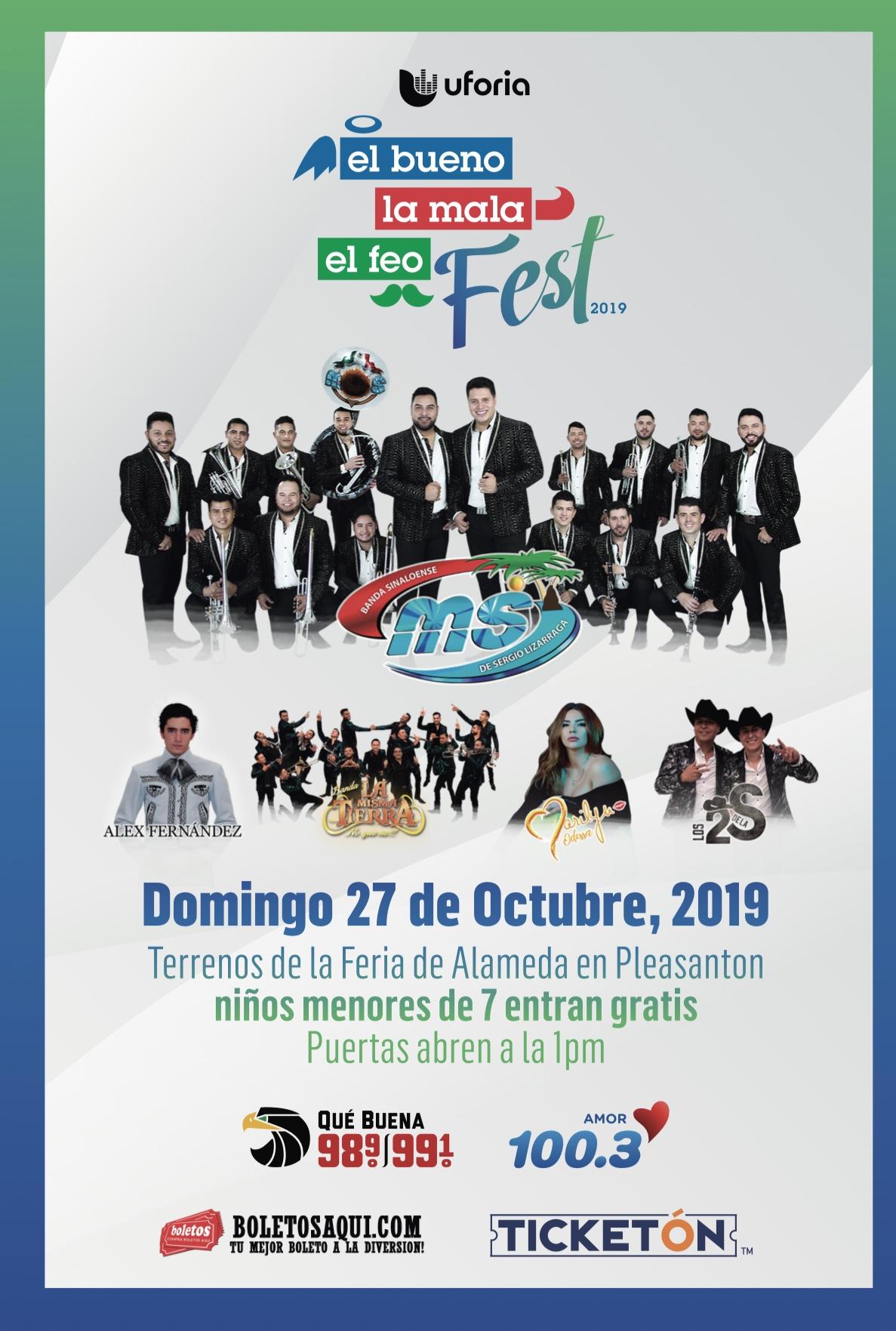 Banda MS, Alex Fernandez, Banda La Misma Tierra, Barilya Odessa y Los 2 de S. – Terrenos de la Feria de Alameda, Pleasanton, CA