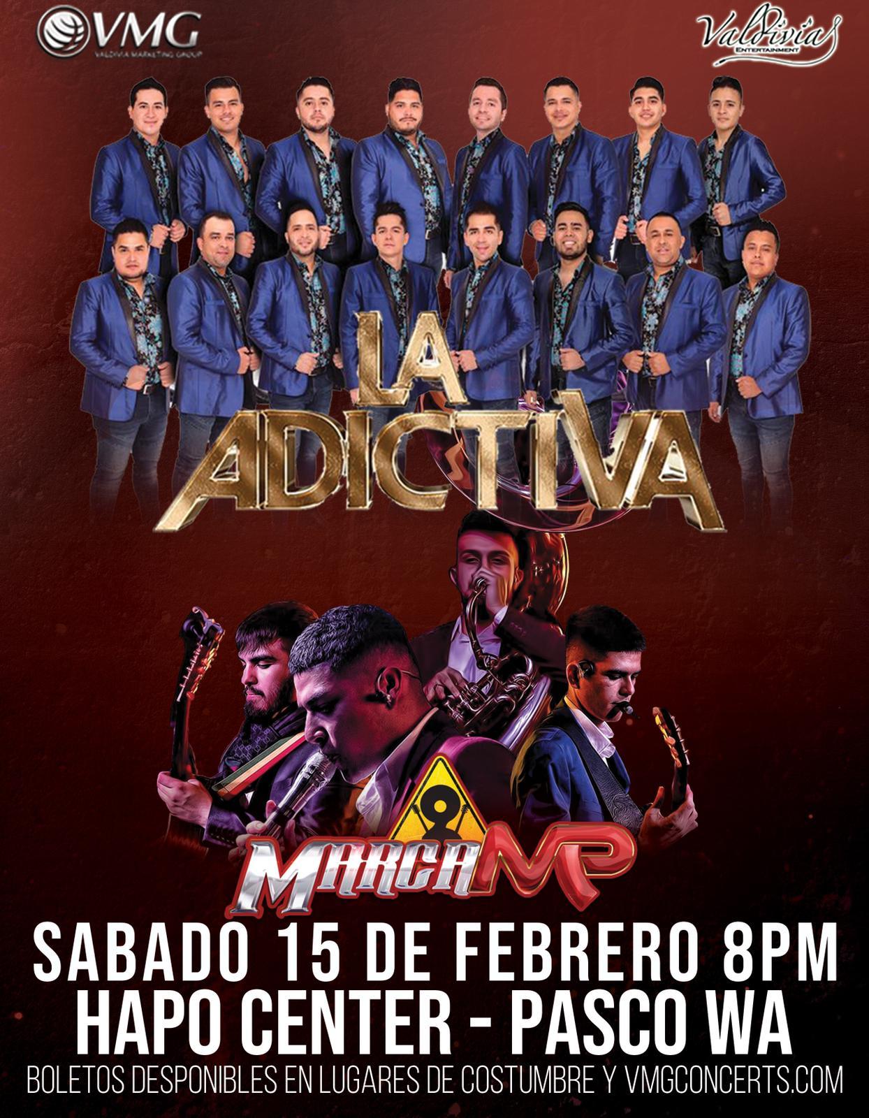 Banda La Adictiva y Marca MP – Hapo Center – Pasco, WA