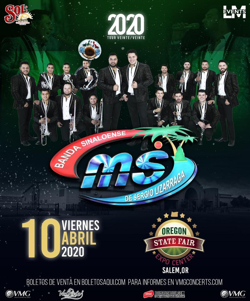 Banda Sinaloense MS – Oregon State Fair Expo Center – Salem, OR