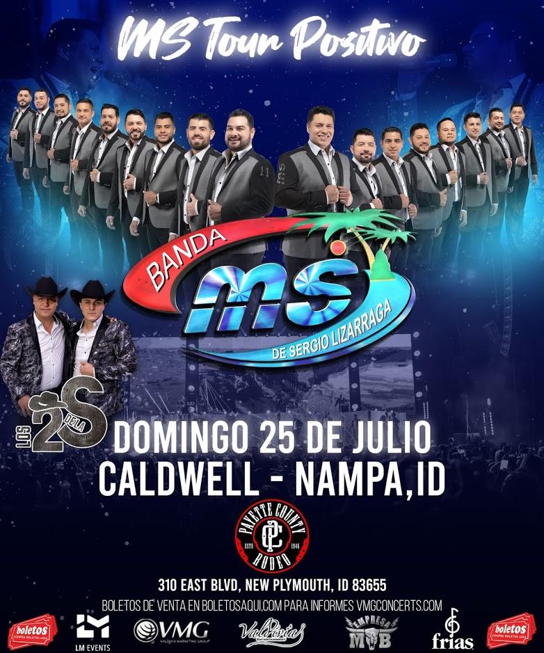 MS Tour Positivo con Banda MS y Los 2 de La S – Caldwell – Nampa, ID