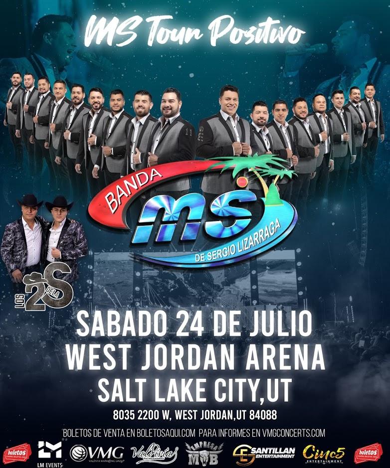 MS Tour Positivo, Banda Sinaloense MS y Los Dos de la S – West Jordan City Hall – West Jordan, UT