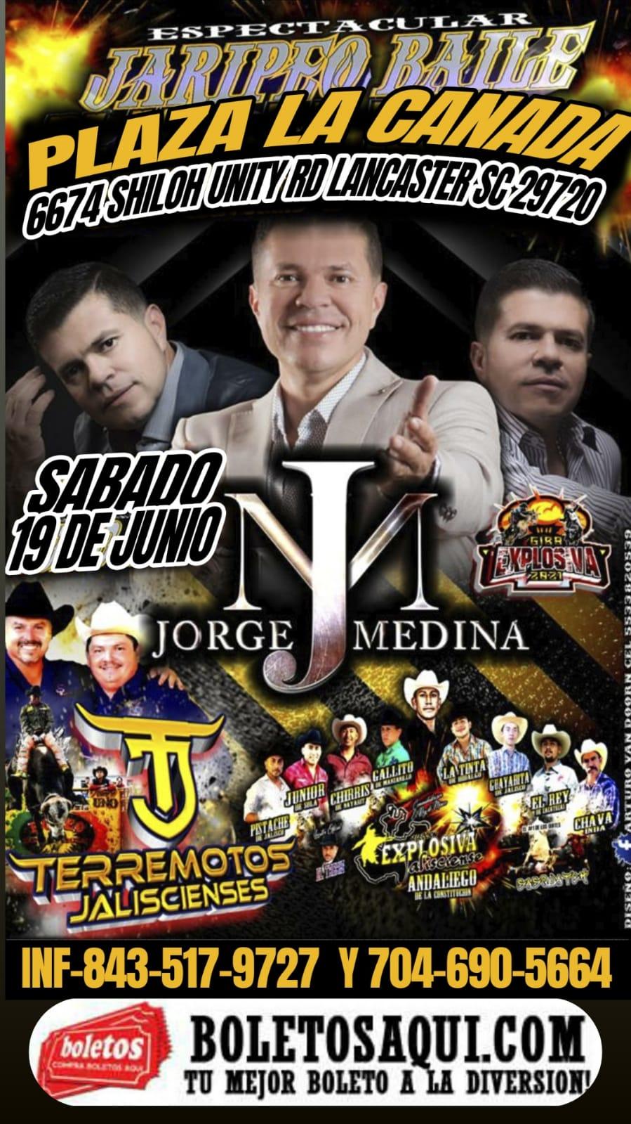 Espectacular Jaripeo Baile, Jorge Medina, Terremotos Jaliscienses y Explosiva Jalisciense. – Landcaster, SC